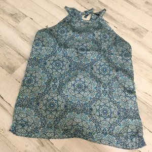 Blue Patterned Mosiac Limited Tank Top XL